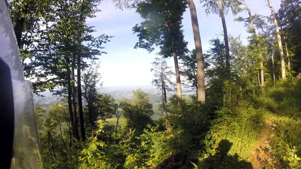 Pogled sa Medvednika na severoistok
